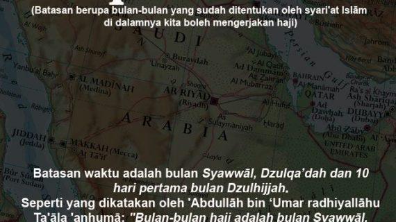 KAJIAN ISLAM INTENSIF TENTANG MANASIK HAJI DAN UMRAH #15: BAGIAN 15 DARI 30