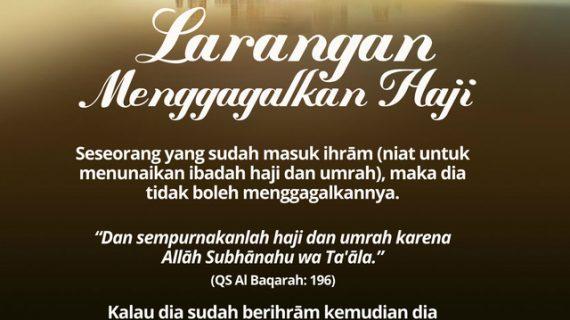 KAJIAN ISLAM INTENSIF TENTANG MANASIK HAJI DAN UMRAH #17: BAGIAN 17 DARI 30